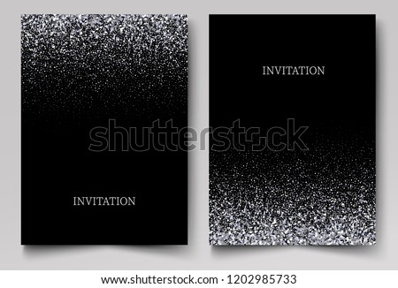 Silver Glitter Background Business Card A2017 Reasonable Price Office & School Supplies