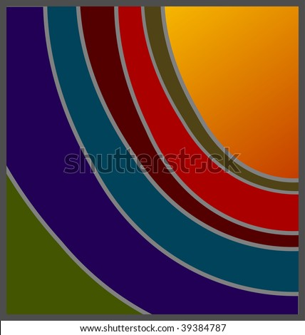 (Vector) Unconventional shades of sunset design, with option for copy space. A jpg version is also available