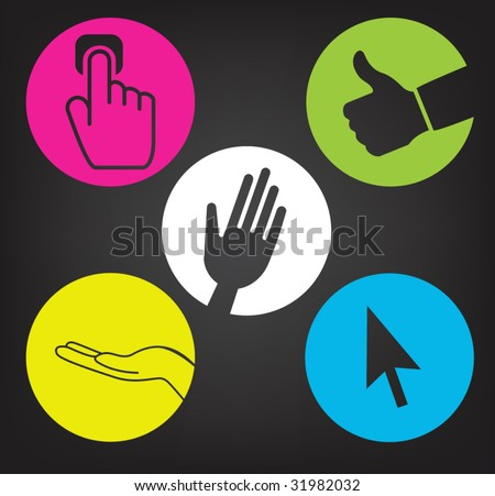 vector version of colorful hands communication concept