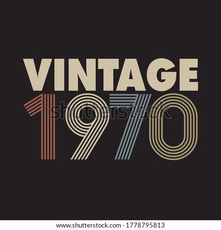 1970 vector vintage retro tshirt design Stockfoto ©