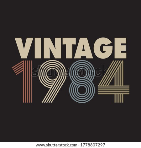 1984 vector vintage retro