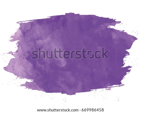 vector watercolored purple