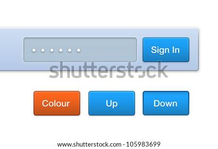 Vector Web Button Set