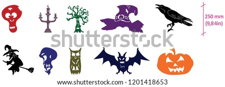 Vectorized drawings optimized for laser cutting and CNC halloween holiday motifs
