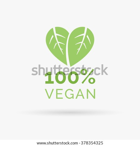 100  vegan icon design green
