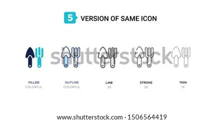 5 version of farm tools icon