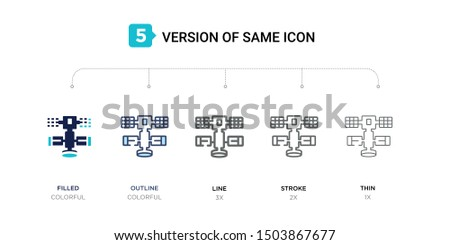 5 version of space station icon
