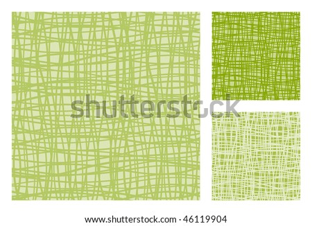 3 versions of abstract retro-patterns. Vector-Illustration