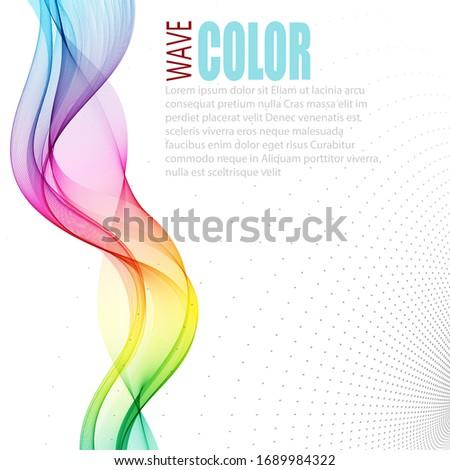 vertical smooth vector rainbow