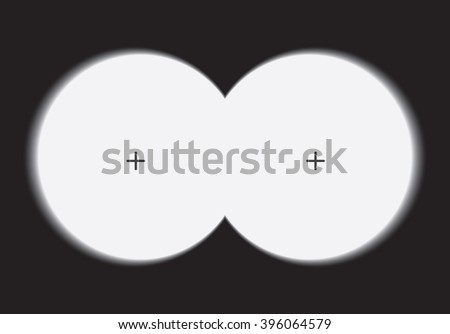 View binoculars with soft edges. Vector illustration.