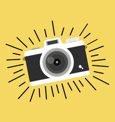 vintage camera vector  flat style