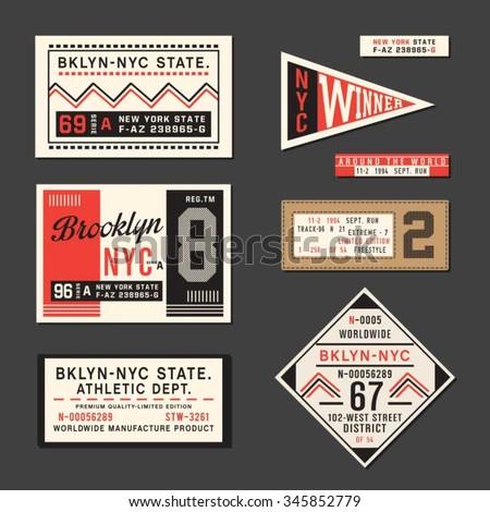 vintage labels athletic sport