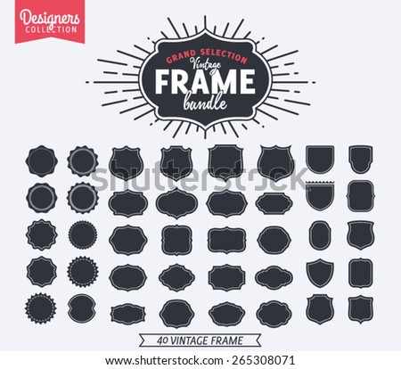 40 Vintage Premium Styled designer frame and shapes - Designers Collection
