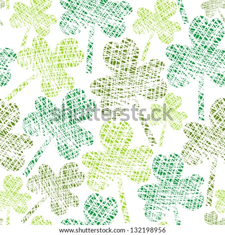 vintage seamless clover pattern
