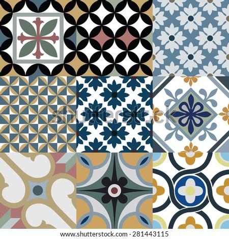 vintage tile in illustration...