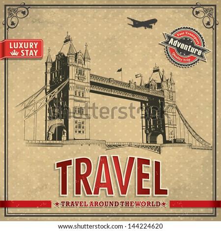 vintage travel london vacation ...