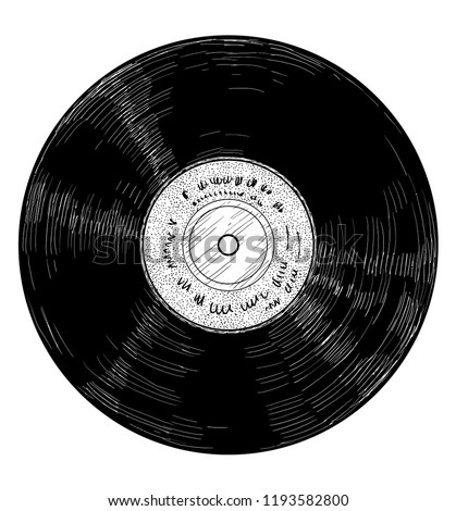 08 vinyl record illustration