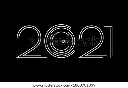 2021 Vision. 2021 vision new year. Happy new year design. 2021 celebration
