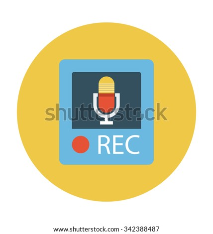 Voice Recorder Colored Vector Icon