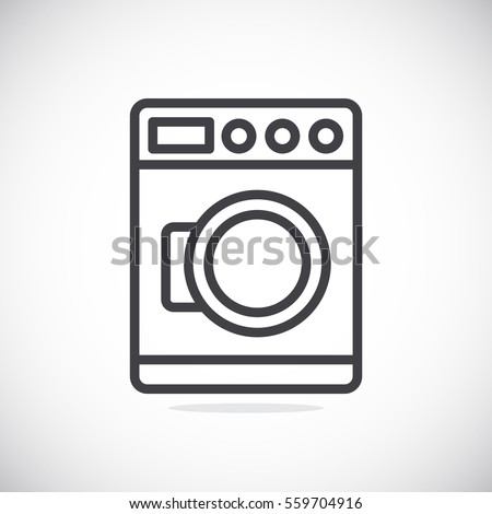 Washing machine Icon Vector.