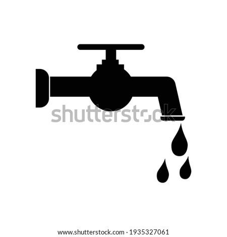 water tap icon vector illustration Foto d'archivio ©