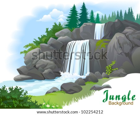 waterfall in a jungle