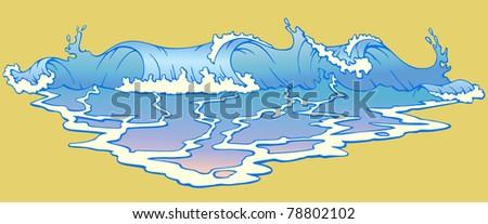 wave - stock vector
