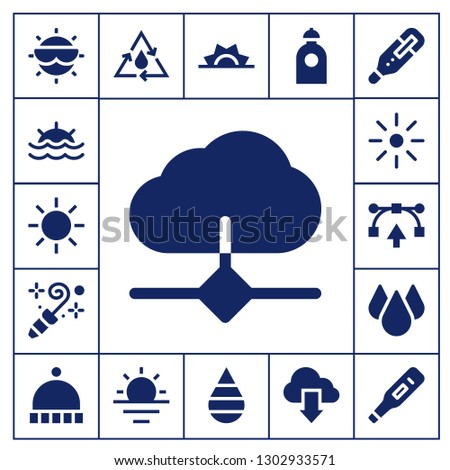 weather icon set 17 filled