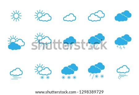 50 Weather Icons - Iconset (Editable Vectors)