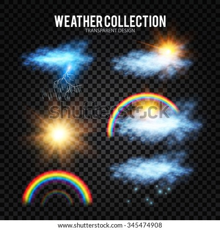 weather symbols  sun  cloud