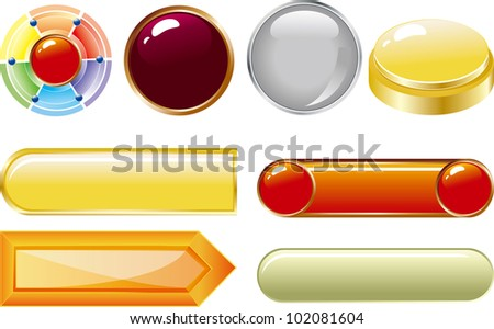 web buttons for website or app. Vector