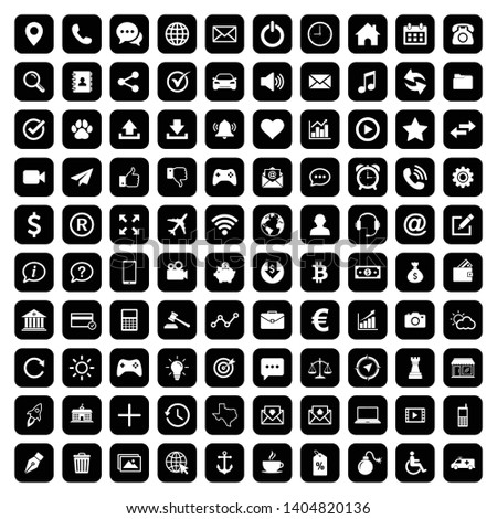 100 Web icon set symbol vector. for web computer and mobile