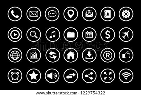 Web icon set vector, Contact us icons