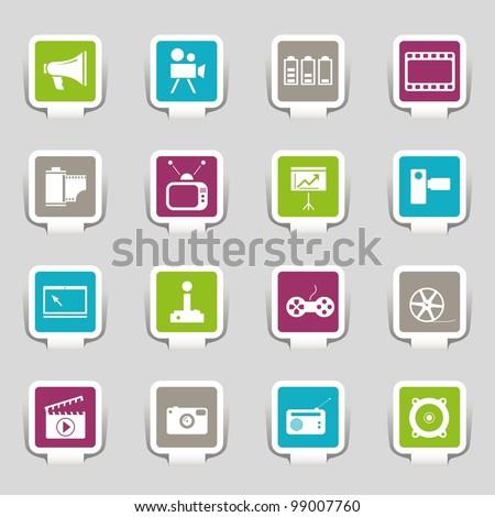 16 web icons media