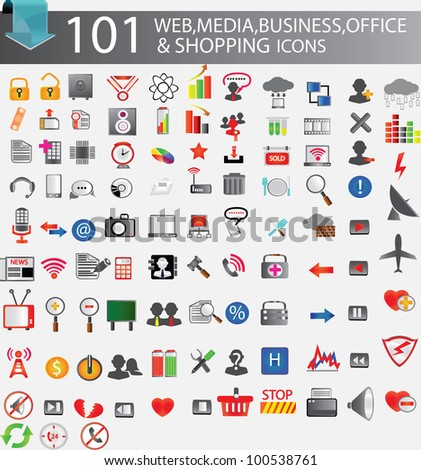 101 web icons,Vector illustration
