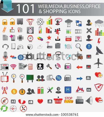 101 web icons,Vector illustration