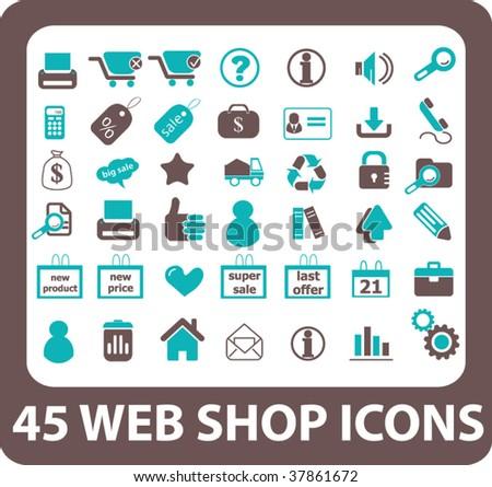 Stock vector web shop icons vector 37861672
