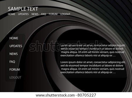 Web template vector  background circular illustration- Modern futuristic vector site template