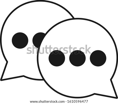 WeChat vector icon. Asian messenger. Message icon. Message isolate on white background. Vector illustration. EPS 10