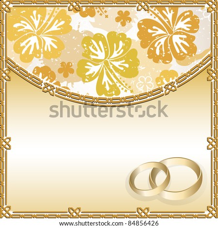 stock vector Wedding card with a floral pattern and place for text
