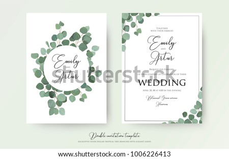stock-vector--wedding-floral-watercolor-style-double-invite-invitation-save-the-date-card-design-with-cute