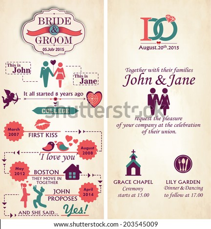 wedding infographic template