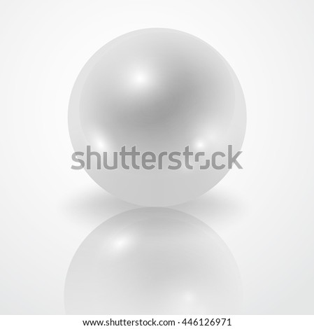 white pearl isolated on white