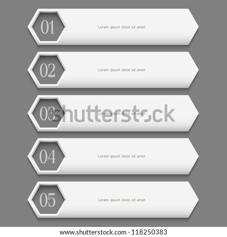 White stylish  Design template. Vector website layout