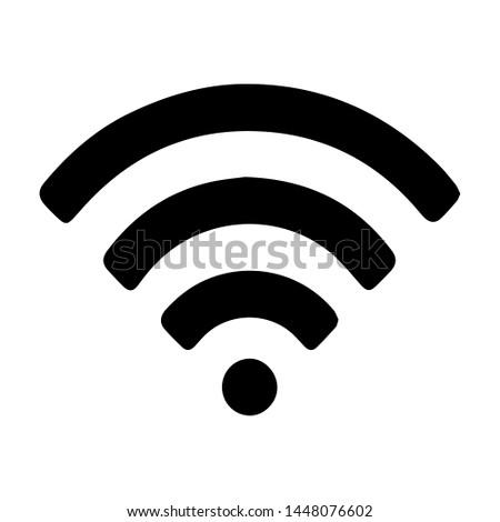 Wifi icon for interface design. Vector wlan access, wireless wifi hotspot signal sign, icon, symbol.