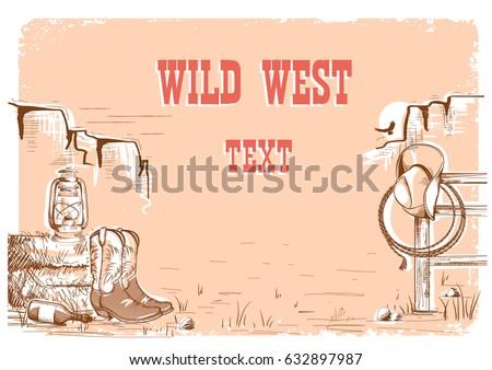 wild west cowboy background