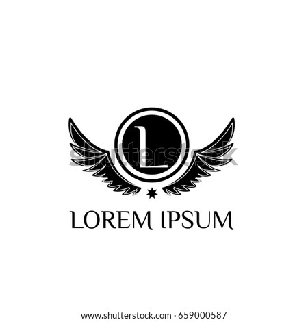 Wings Logo Design Template Letter L Ez Canvas