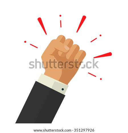 winner hand up fist vector