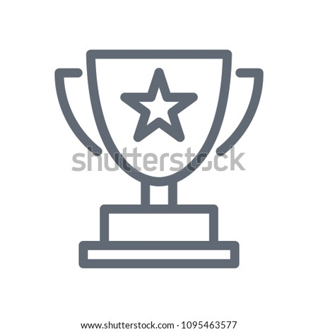 winning cup vector icon