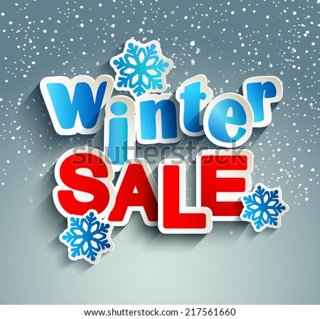 winter sale inscription with